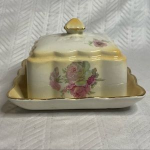 Old Foley James England covered butter/cheese dish